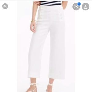 I crew white cropped pants